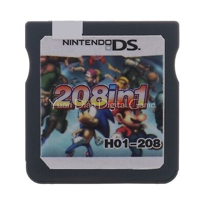 208 In 1 Game Cartridge/ Multi Cartridge For Nintendo Ds DSL DSI 3DS 2DS/ XL US