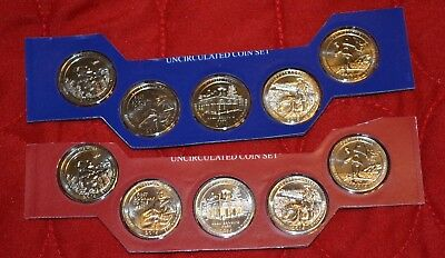 2016 America the Beautiful Quarters Complete P & D 10 Coin Set BU in Mint Cello
