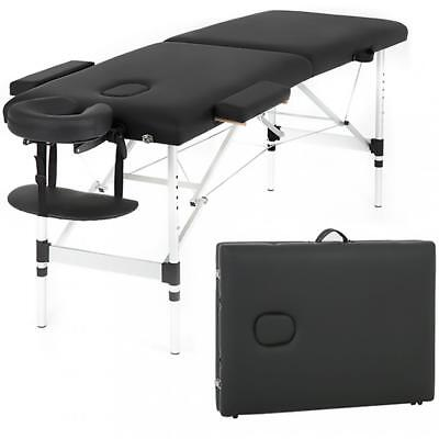 Massage Table Heigh Adjustable 2 Fold W/Face Cradle 73'' Portable Aluminium Bed