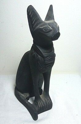 ANCIENT EGYPTIAN ANTIQUE BASTET Statue Ubaste Cat Stone 1420-1390 BC