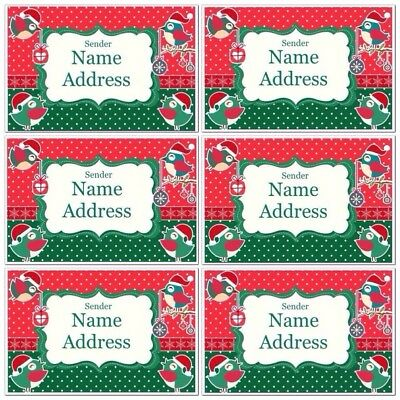 50 x Personalised Gorgeous Christmas Card Letter Return Address Labels   BN