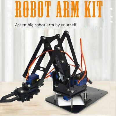 2018 DIY Robot Arm Kit Educational Robotic Claw Set MULTI SCREW Servos UNO Board
