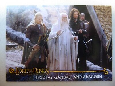 TOPPS: LOTR The Return Of The King #R18 LEGOLAS, GANDALF AND ARAGORN