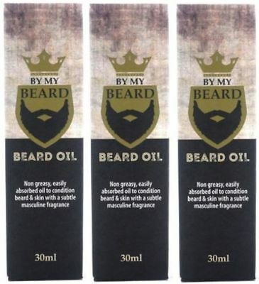 By My Beard Oil  Non-Greasy Easily Absorbed (3 x 30ml) (Vegan)  Ideal Gift