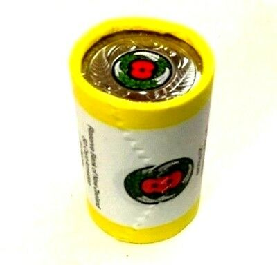 New Zealand 2018  50 CENT ARMISTICE RED POPPY ROLL REMEMBRANCE 11*11*2018