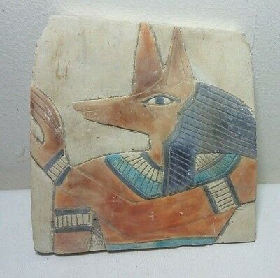 RARE ANCIENT EGYPTIAN ANTIQUE ANUBIS Stela 1749-1499 BC