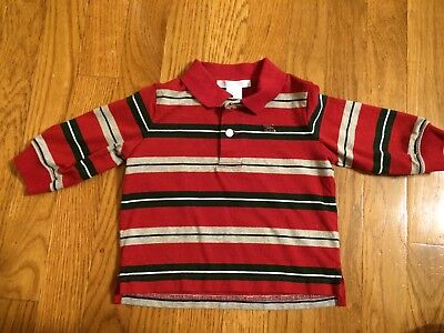 EUC Janie And Jack Boys Long Sleeved Polo Shirt 3-6 Months