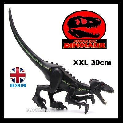 XL INDORAPTOR SLIM - JURASSIC DINOSAUR set - kingdom park world - fits lego