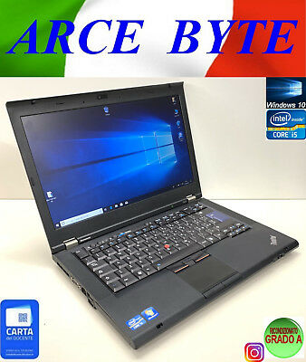 "NOTEBOOK PC LENOVO IBM THINKPAD T420 PORTATILE 14"" FATTURABILE W10 CORE i5"