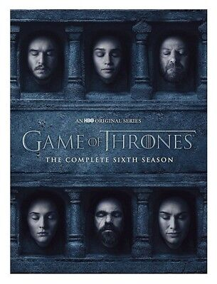 Game of Thrones: The Complete 6th Season (DVD, 2016, 5-Disc) COVERS TORN