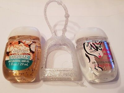 Bath & Body Works  2 x Hand Sanitizer Anti-Bac Gel & Holder, Unicorn  Pumpkin
