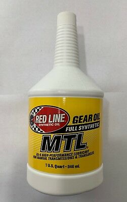 Red Line MTL Full Synthetic Gear Oil GL-4 75W80 High Performance 1 Quart