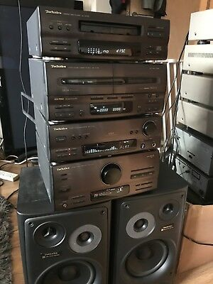 Technics Retro Ch750 Mini Hifi With Speakers