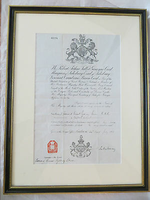 Antique Letter Marquess Salisbury Travel Pass for Lieutenant Spicer Signed 1900