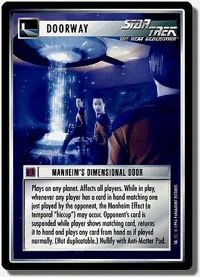 Star Trek CCG QC Q-Continuum Manheim's Dimensional Door