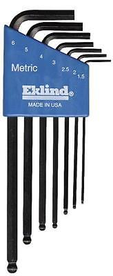 New Eklind 13607 7 Pc  Ball End Metric Allen Hex Key Wrench Set Usa Made Sale