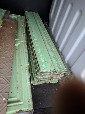 Antique Pressed Tin Metal Ceiling Tiles,Wall Panels,Crown Molding,Trim Vintage