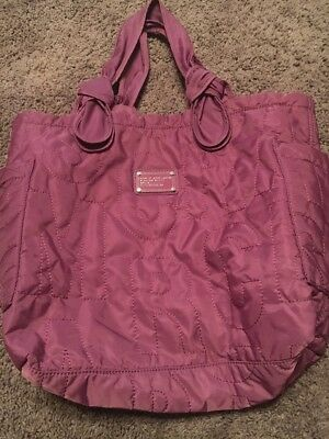 724343277095 Marc By Marc Jacobs Standard Supply Workwear Purple Quilted Nylon Tote