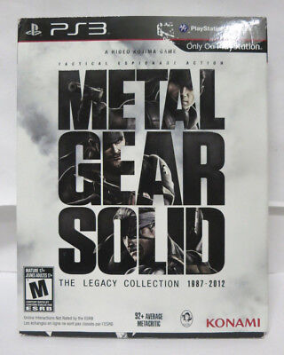 Metal Gear Solid: The Legacy Collection PS3 w/artbook