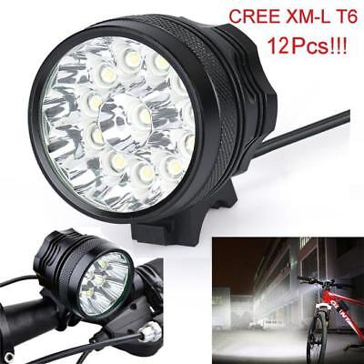 30000 Lm 12x T6 LED 3 Modes Bicycle Lamp Bike Light Headlight Cycling Torch