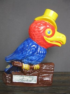 Ezra Brooks Parrot Whiskey Decanter 1969 By Heritage China- EMPTY