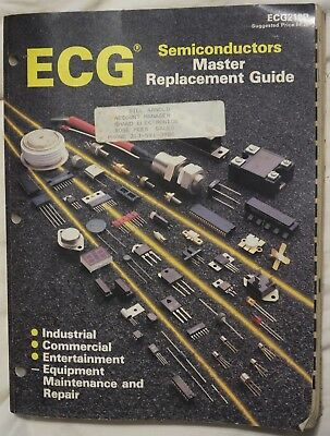 Vintage Philips ECG SEMICONDUCTORS REPLACEMENT GUIDE 1987