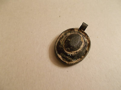 Antique Celtic Pendant with Glass Jewel
