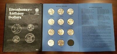 1979-1999 $1 Susan B Anthony Dollar Complete 11 coin PDS BU Set w/Whitman Folder