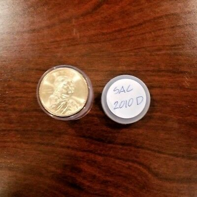 2010-D - Roll of 25 Sacagawea Native American $1 Dollar Coins in Tube