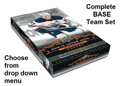 2018-19 Upper Deck SERIES 1 Complete BASE Team Set No Young Guns You Pick Choose