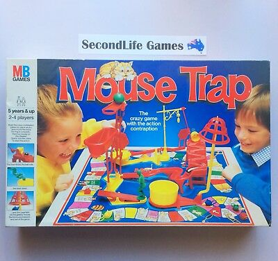 MOUSE TRAP: The Crazy Game ~ Milton Bradley (1986). Complete Set In EC.