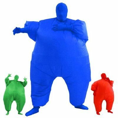 AirSuits Fancy Dress Party Costume Inflatable Fat Chub Suit Second Skin - BLUE