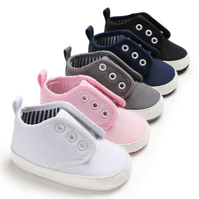 Baby Boy Girl PreWalker Crib Shoes First Shoes Soft Sole Sneakers Newborn to 18M