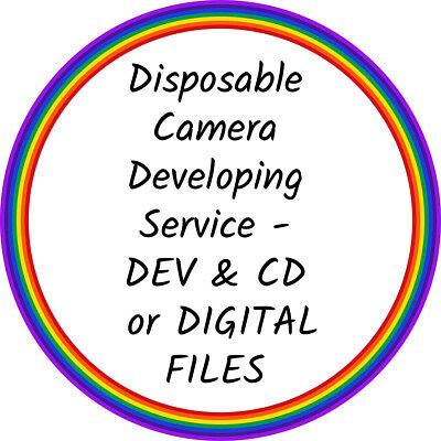 Disposable Camera Developing/Processing Service - DEV & CD / DIGITAL FILES