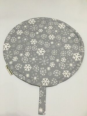 Chef Pads for Aga Ranges, PAIR ,Silver Snowflake, 100% cotton, washable