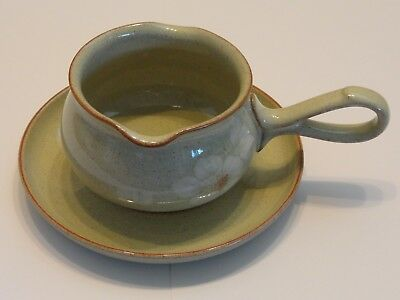 Denby Daybreak Gravy Sauce Boat with Saucer Underplate