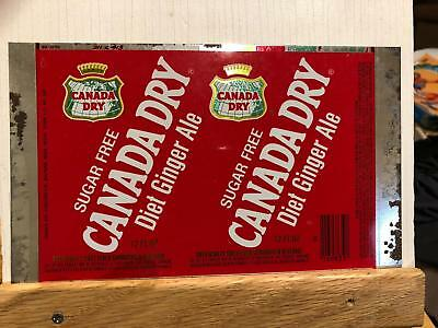 Vintage Unrolled Steel Flat Soda Can Canada Dry Ginger Ale