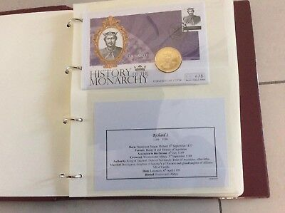 Westminster Coin Stamp History Of The Monarchy 8 Covers