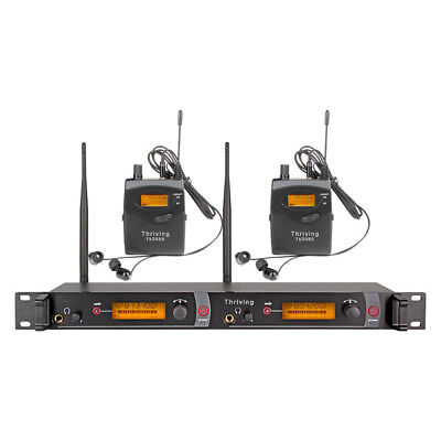 Pro UHF Wireless In Ear Monitor System 200 channel  Monitoring MONO Audio Stage