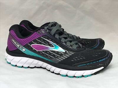 0b30a3a3b22f Brooks Ghost 9 Black Purple Running Shoes Women s US 10 EUR 42 M Lace Up DNA