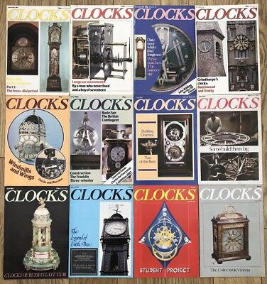 CLOCKS magazine. 1982 Jan To Dec