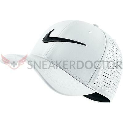 New Nike Mens Classic 99 Fitted dad Hat White Black One Size Fits All Flex ea6f250a96b