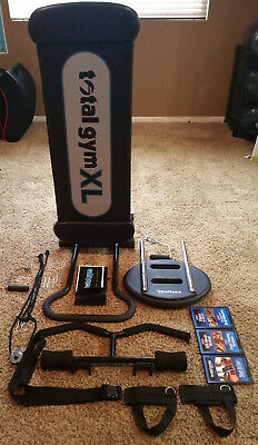 Total Gym Xl Total Body Fitness W/ Wing Bar, Squat Stand,toe Bar And Pilates Kit