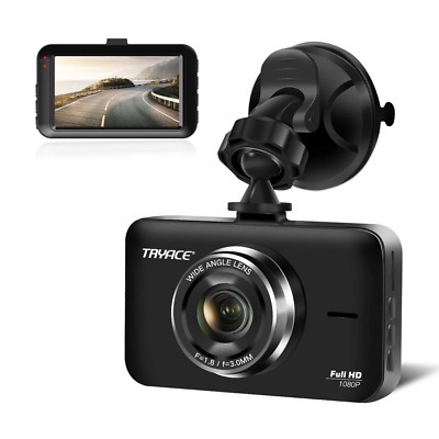 "Dash Cam 3"" LCD FHD 1080P Wide Angle Dashboard Camera Recorder with G-Sensor USA"