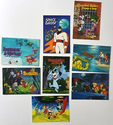 Lot of 8 Hanna Barbera trading cards Classics Scooby-Doo Space ghost Huckleberry