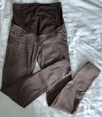 H&M MAMA Super Skinny Maternity High Rib Jeans Size 8