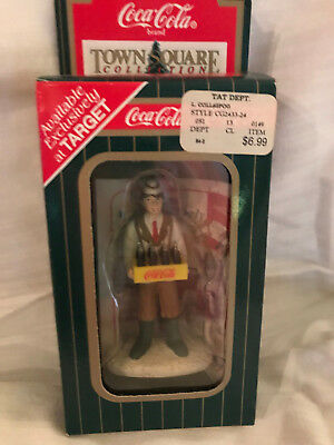 """1996 Coca Cola Town Square Collection Popcorn Vendor """"only At Target"""" New"""