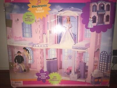 Barbie Grand Hotel W Interactive Phone 100 Phrases 5 Deluxe Rooms