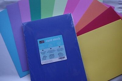 Stampin Up A4 Smooth Card Stock Bold Brights - 33 Sheets BNIP (Part Pack)