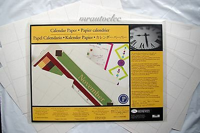 Creative Memories 7.5x10.5 Spargo Calendar Photo Mounting Paper - Double sided